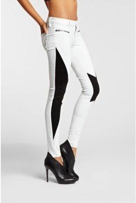 GUESS Kate Low-Rise Skinny Moto Leggings with Pintucks