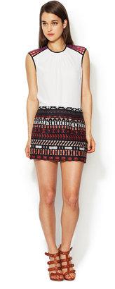 Vena Cava Quintana Embroidered Mini Skirt