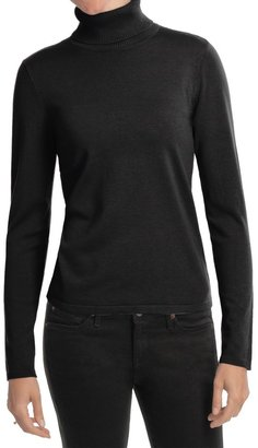 August Silk Rib-Trim Turtleneck Sweater (For Women) $24.99 thestylecure.com