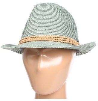 Hat Attack Fine Braid Fedora W/Cord Trim (Slate) - Hats