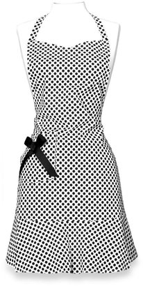 Bed Bath & Beyond JS Home™ Maryanne Candy Dot Hostess Apron in Ivory/Black