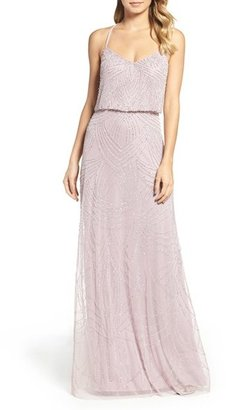 Women's Adrianna Papell Beaded Chiffon Blouson Gown $298 thestylecure.com