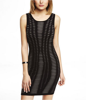 Express Exploded Jacquard Sweater Dress