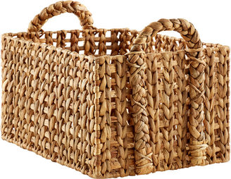 Container Store Large Open-Weave Water Hyacinth Bin Natural