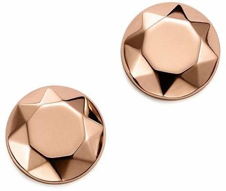 Bloomingdale's 14K Rose Gold Faceted Dome Earrings - 100% Exclusive
