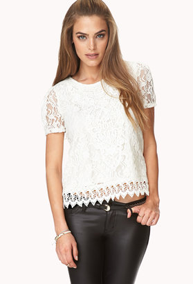 Forever 21 Regal Crocheted Top