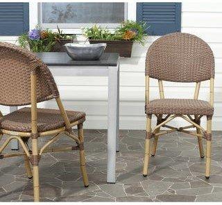 Safavieh Barrow Indoor Outdoor Stackable Dining Chairs