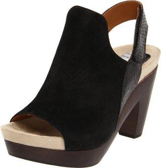 Earthies Women's Positano Platform Sandal,Black,9 M US