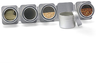 Container Store 5-Canister Magnetic Spice Rack