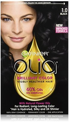 Garnier Olia Oil Powered Permanent Hair Color, 1.0 Black (Packaging May Vary) $9.99 thestylecure.com