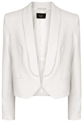 MANGO Cropped Tuxedo Blazer