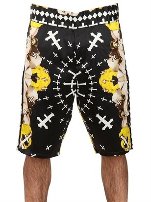 John Richmond Printed Silk Bermuda Shorts