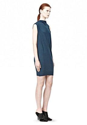 Alexander Wang Draped Merino Sleeveless Dress