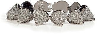 Eddie Borgo Silver Crystal Encrusted Pave Cone Bracelet