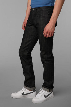 Urban Outfitters Unbranded Tapered Black Selvedge Jean