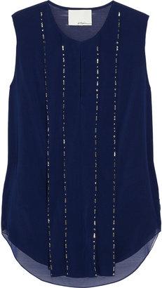 3.1 Phillip Lim Embellished silk-blend chiffon top