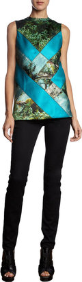 Proenza Schouler Sleeveless Tree Print Top