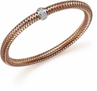Roberto Coin 18K Rose Gold Primavera Stretch Bracelet with Diamonds