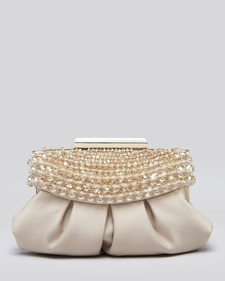Sondra Roberts Clutch - Satin Pouch with Beaded Top