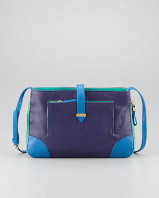 Tory Burch Clay Shoulder/Crossbody Colorblock Bag, Admiral Blue