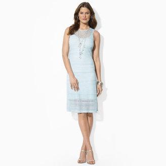 Ralph Lauren Pointelle-Knit Crewneck Dress