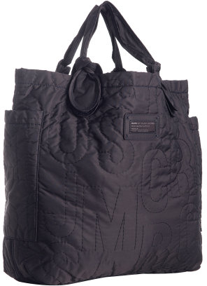 Marc by Marc Jacobs violet quilted nylon 'Pretty' large tote