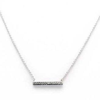 "Sylvie Dana Rebecca Rose"" White Gold Medium Bar Necklace 18-inch"