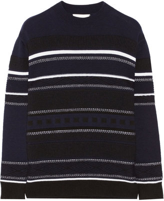 3.1 Phillip Lim Jacquard-knit wool and marten-blend sweater
