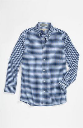 Nordstrom Gingham Dress Shirt (Big Boys) Bright Blue Gingham 14