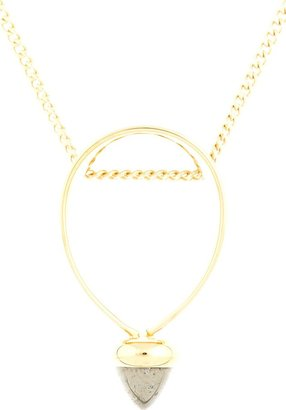 Chloé Gold & Grey Stone Carmin Necklace