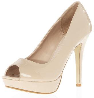 Dorothy Perkins Nude platform peep toe courts