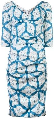 Samantha Sung Printed ruched dress