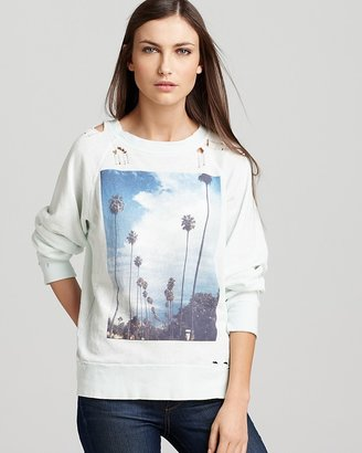 Wildfox Couture Sweatshirt - I Love Los Angeles Distressed