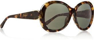 Oscar de la Renta Round-frame acetate sunglasses
