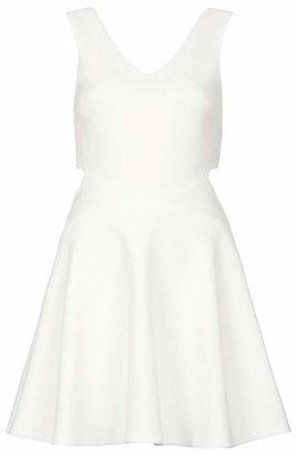 Topshop Cutout Skater Dress