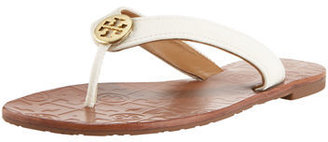 Tory Burch Thora Leather Thong Sandal $125 thestylecure.com