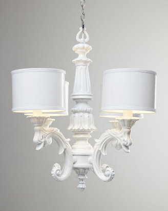 BARBARA COSGROVE White Baroque Chandelier
