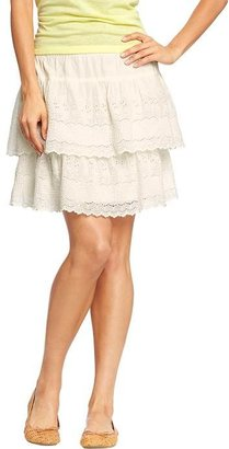 Old Navy Women's Tiered Eyelet Skirts
