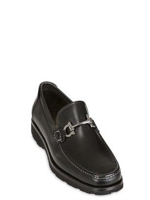 Salvatore Ferragamo Gonzaga Leather Loafers