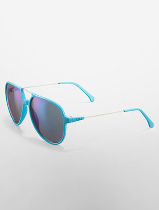 Calvin Klein Jeans Wire Pilot Mirror Sunglasses
