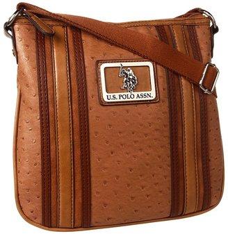 U.S. Polo Assn. USPA Collaborate Crossbody (Tan) - Bags and Luggage
