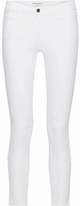 Frame Le Skinny De Jeanne Crop Mid-rise Jeans - White