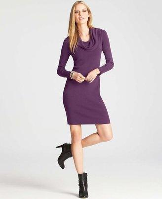 Ann Taylor Cowl Neck Sweater Dress