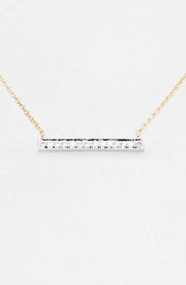 Sylvie Dana Rebecca Designs 'Sylvie Rose' Medium Diamond Bar Pendant Necklace