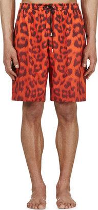 Katie Eary Vermilion Leopard Swim Shorts $800 thestylecure.com