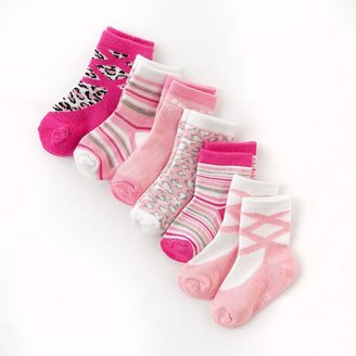 Pink Cookie 6-pk. cheetah socks - toddler