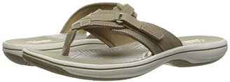 Clarks Breeze Sea (Pewter Synthetic) Women's Sandals