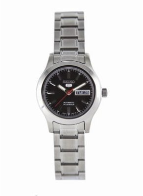 Seiko Women's SYMD95 Seiko 5 Automatic Stainless Steel Watch $185 thestylecure.com