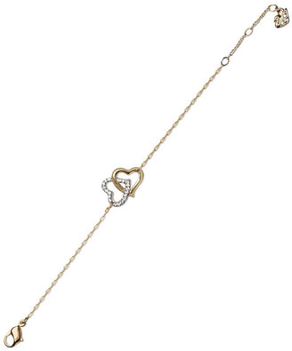 Swarovski Bracelet, Interlocking Crystal Hearts