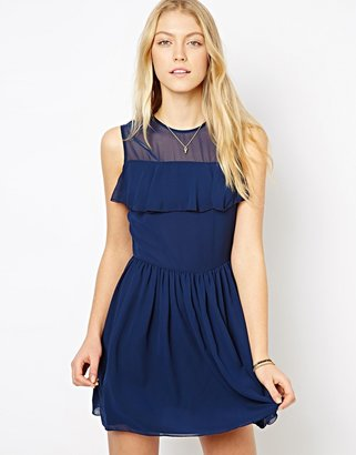 Love Dress with Frill Detail - Black